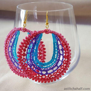 Wondrous Web Freestanding Lace Earrings - a-stitch-a-half