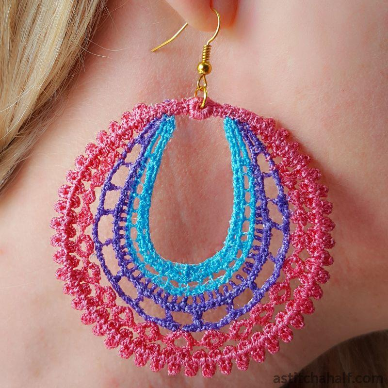 Wondrous Web Freestanding Lace Earrings