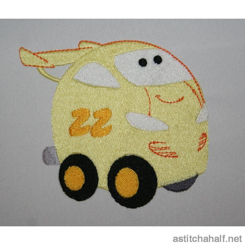 Yeller Car Embroidery Fill