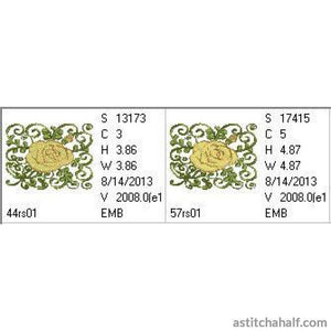 Yellow Rose of Texas - a-stitch-a-half