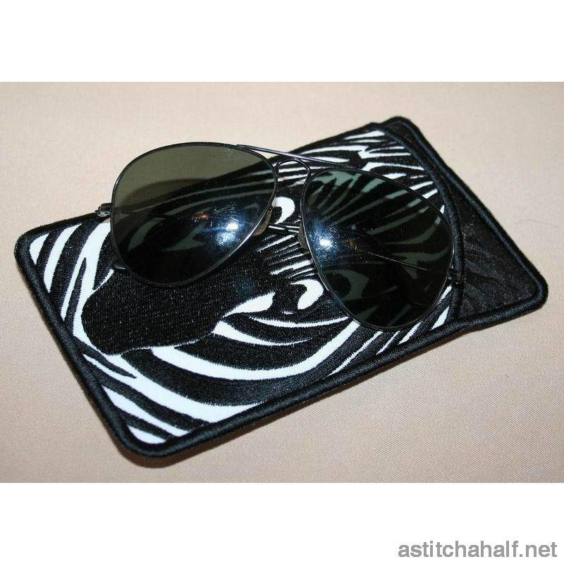 Zebra Eyeglass Cases All In The Hoop