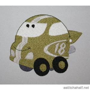 Zoom Zoom Car - a-stitch-a-half