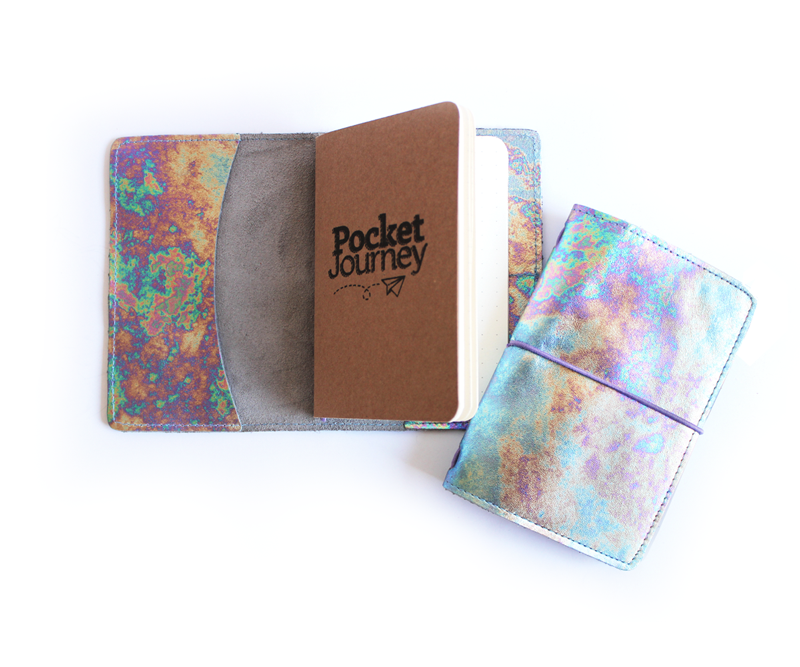 PaperMe, porta documento, cuero, porta pasaporte, pocket journey, pocket, midori, traveller, holografica