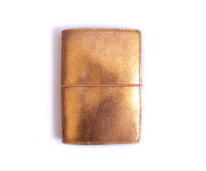 PaperMe, porta documento, cuero, porta pasaporte, pocket journey, pocket, midori, traveller, rosegold