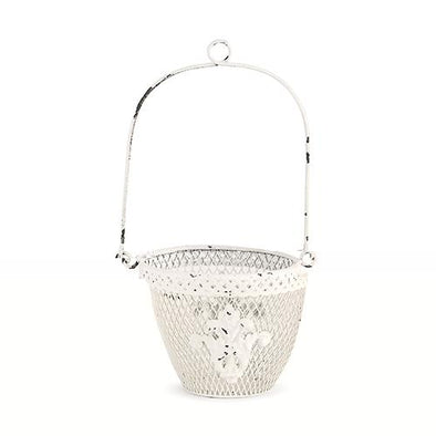 Shabby Chic Metal Flower Basket - Bridal Show Time