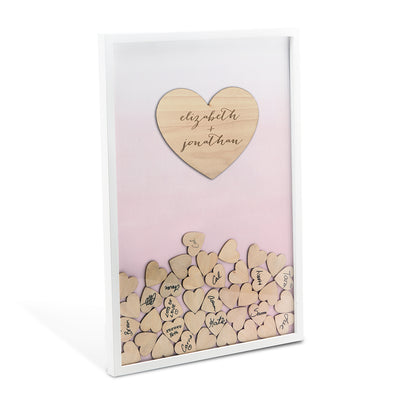Wedding Guest Book Alternative Drop Box with 100 Hearts - Bridal Show Time