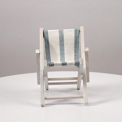 Mini Blue and White Striped Deck Chairs Beach Favor set of 8 - Bridal Show Time