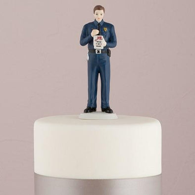 """A Love Citation"" Policeman Groom Figurine Groom - Bridal Show Time"