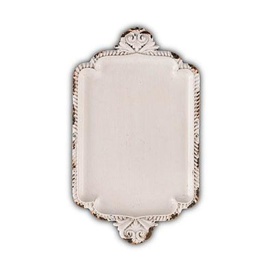 Antique White Miniature Metal Ring Tray White - Bridal Show Time