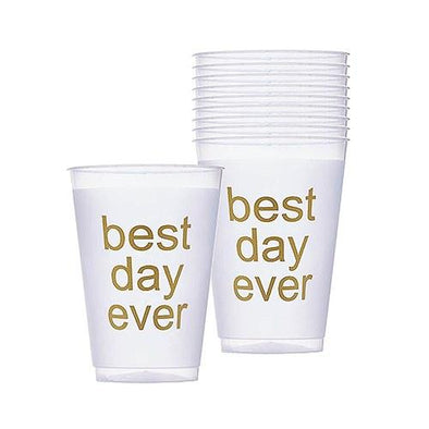 Best Day Ever Frosted Plastic Tumblers - Bridal Show Time