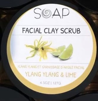YLANG YLANG & LIME FACIAL CLAY SCRUB