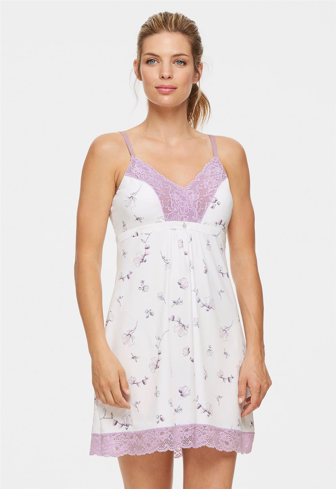 Bust Support Chemise Magnolia Bloom