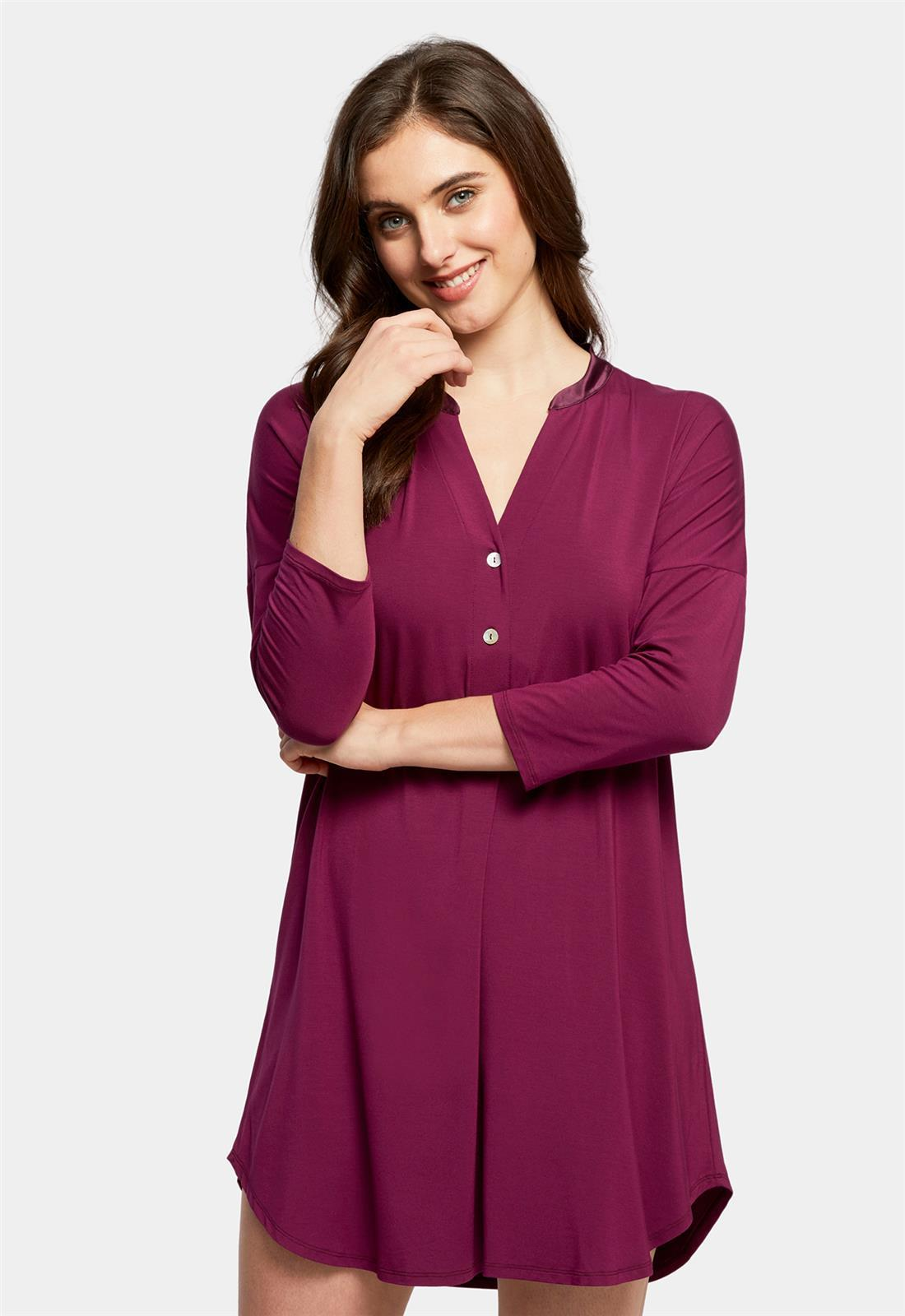 Dolman 3/4 Sleeve Nightshirt Royal Plum
