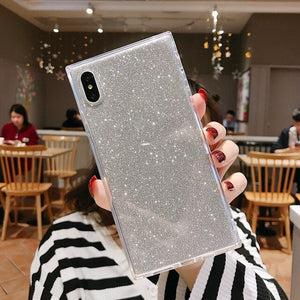 Shining Glitter Powder Square iPhone Case - Casefy Shop