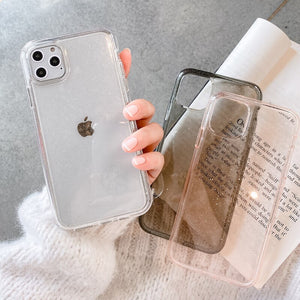 Clear Glitter Shockproof iPhone Case - Casefy Shop