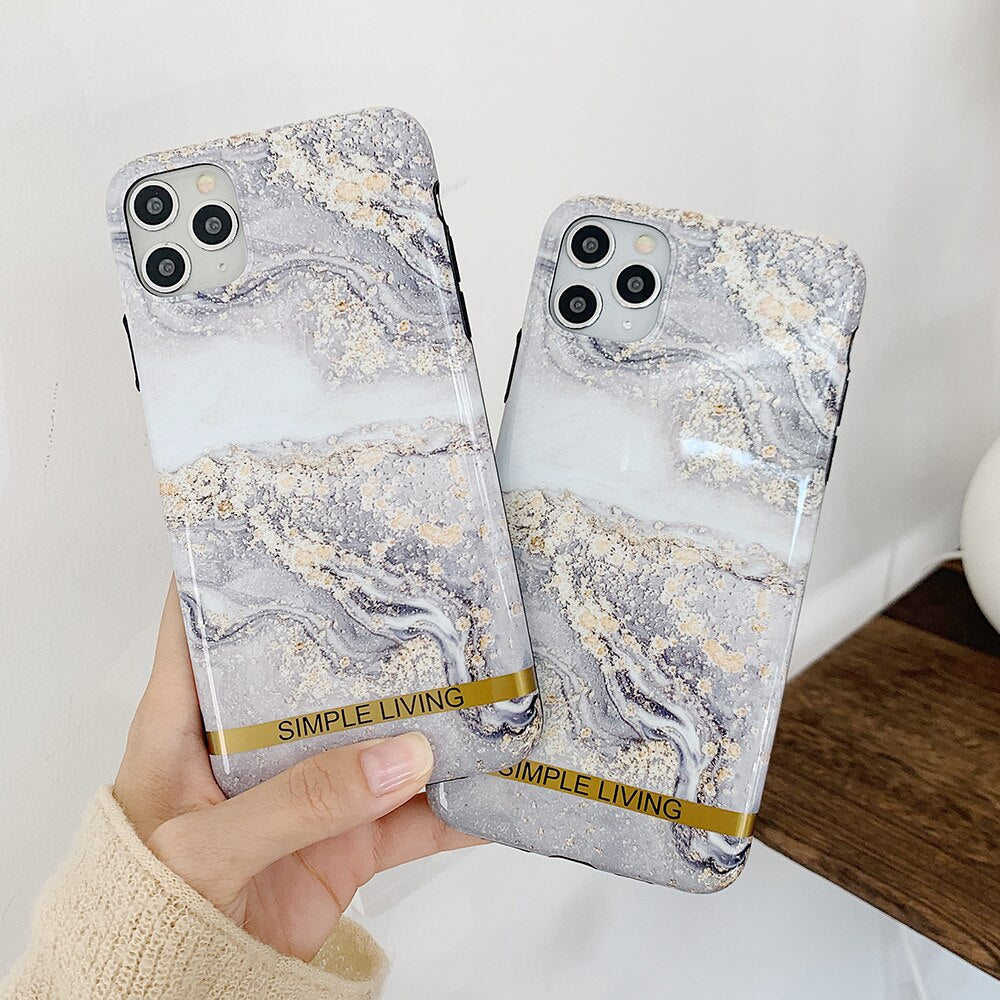 Grey Marble iPhone Case - Casefy Shop