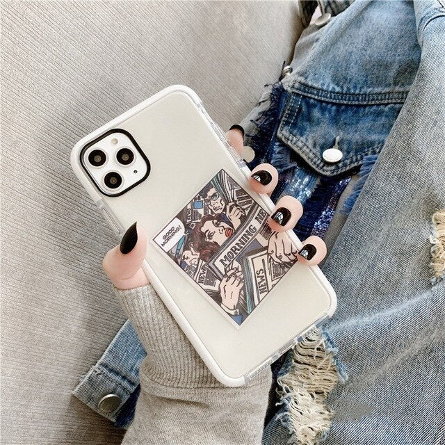 Sticker Card Shockproof iPhone Case - Casefy Shop
