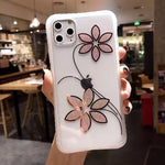 Glitter Flower Shockproof iPhone Case - Casefy Shop