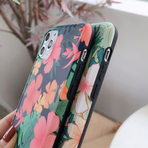 Flower With Banana Leaf iPhone Case