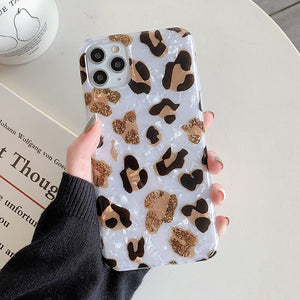 Leopard Print Dream Shell iPhone Case - Casefy Shop