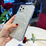 Silver Flakes iPhone Case - Casefy Shop