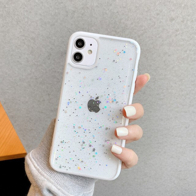Glitter Transparent Shockproof iPhone Case - Casefy Shop