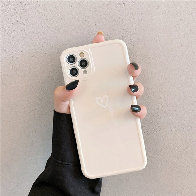Candy Color Heart iPhone Case