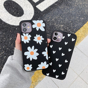 Heart & Daisy iPhone Case