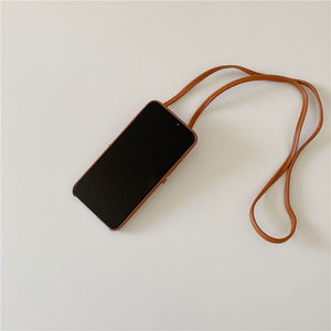 Leather Lanyard iPhone Case