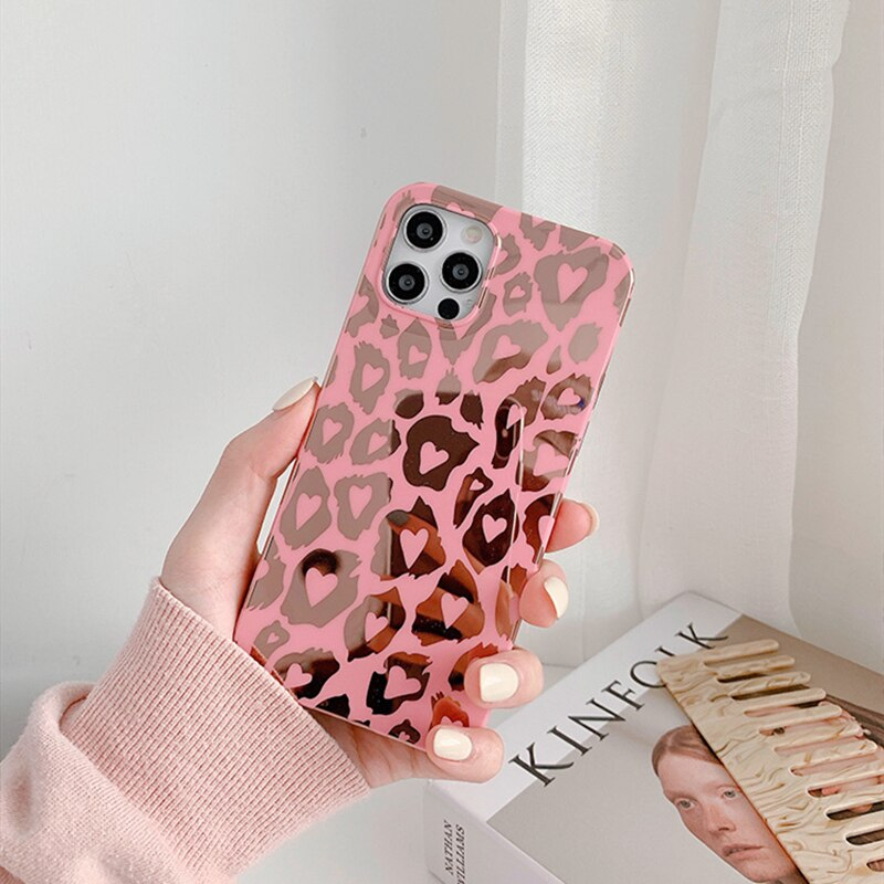 Glossy Leopard iPhone Case
