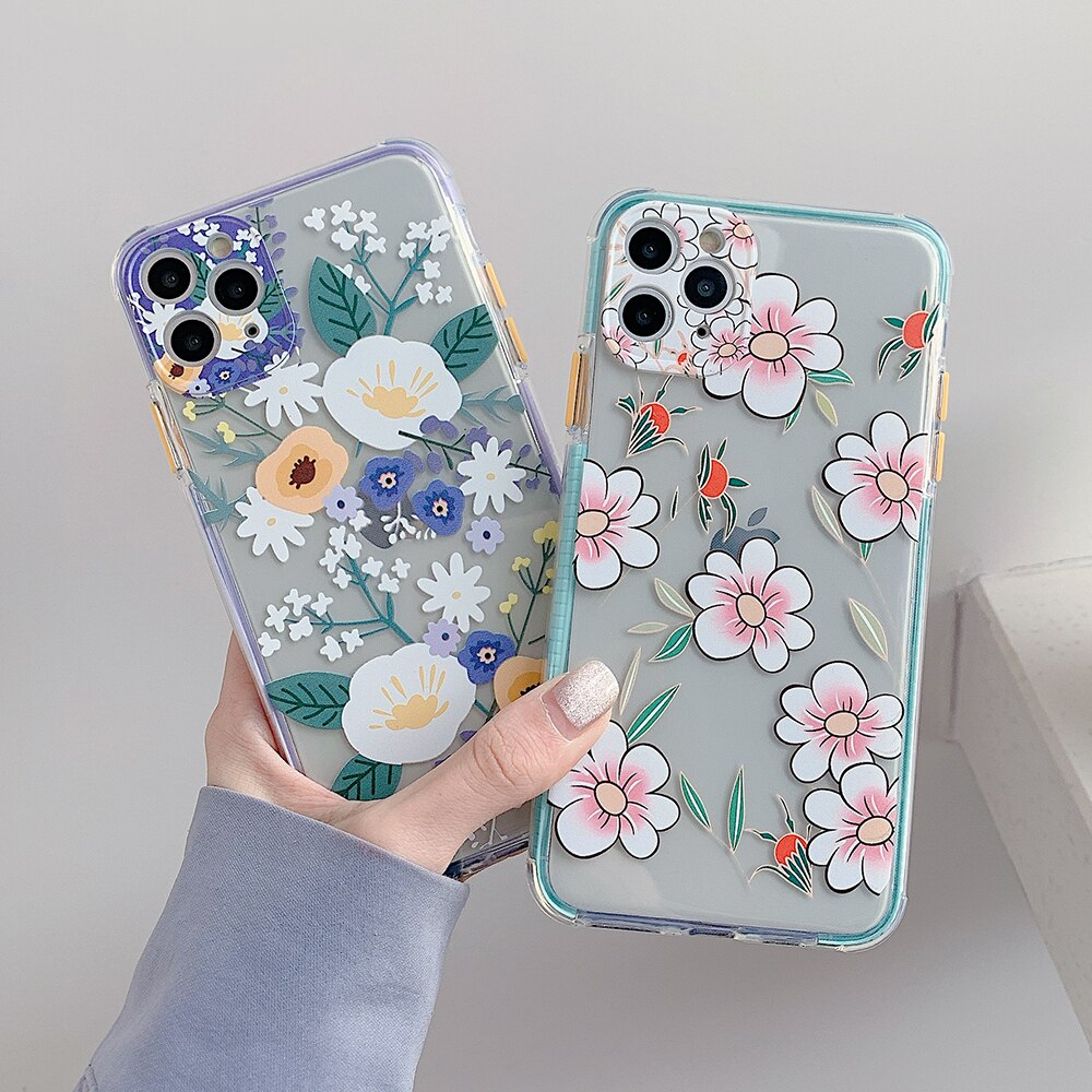 Transparent Flowers iPhone Case