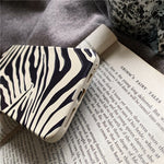 Zebra Pattern Leather iPhone Case