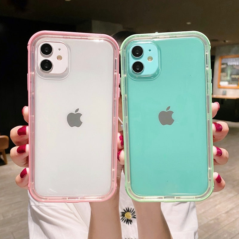 Transparent Candy Color Bumper iPhone Case