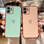 Electroplated Heart iPhone Case