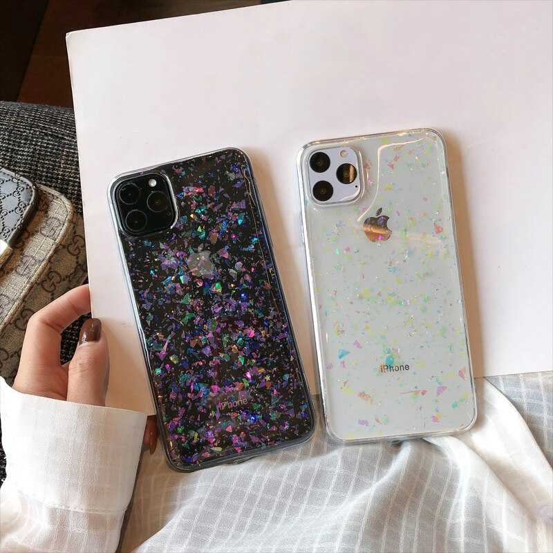 Clear Glitter iPhone Case