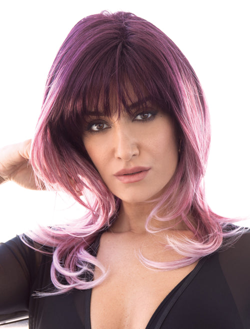 Noriko Elliot synthetic wig Melted Plum