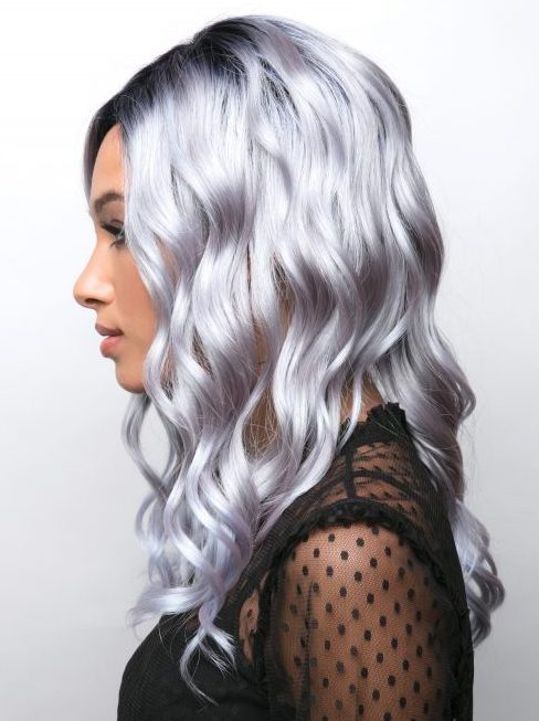 Rene of Paris Layla synthetic wig Pastel Blue-R