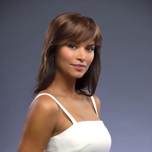 Amore Medium Top Piece synthetic hair topper Marble Brown