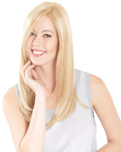 Belle Tress remy human hair lace front hair topper Creamy Blonde