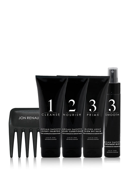 JON RENAU/EASIHAIR - Travel Size Human Hair Kit