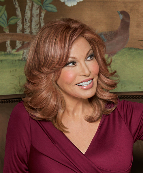 Raquel Welch Indulgence human hair topper R3025S+ Glazed Cinnamon