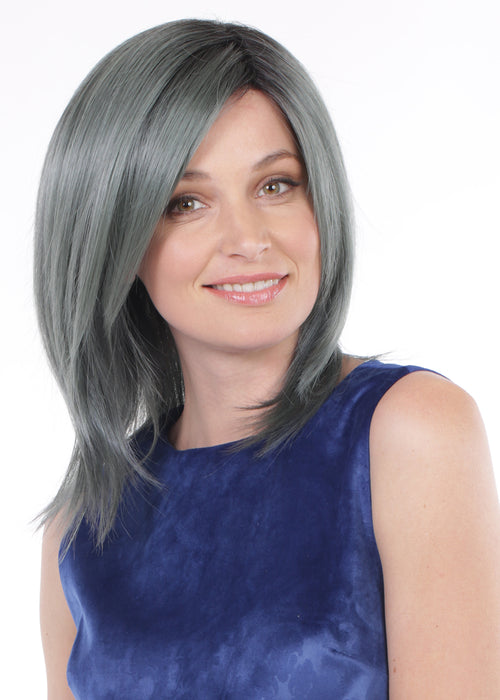 Belle Tress Dynamica Peppermint synthetic wig Blue Steel