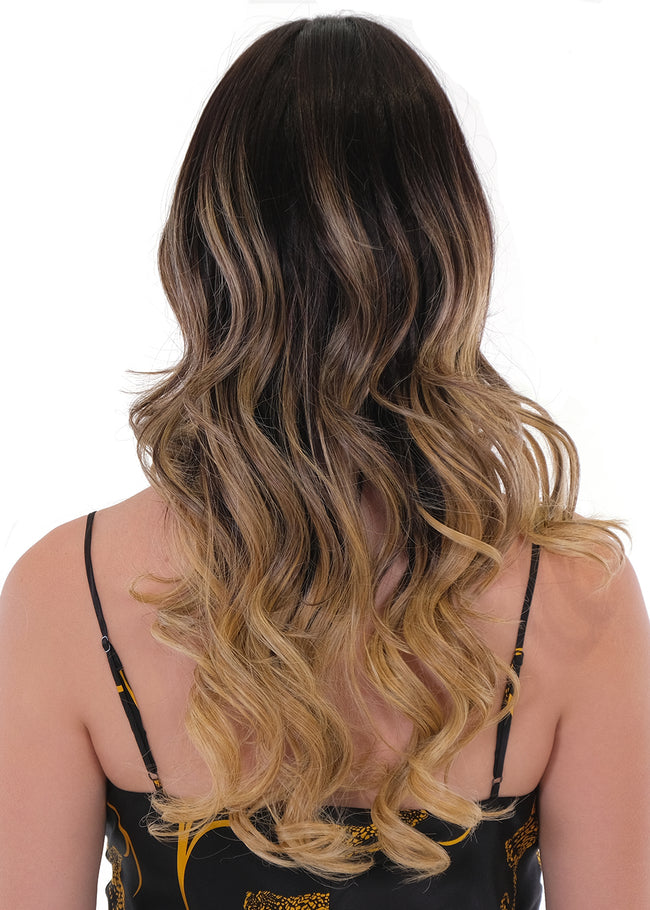 Belle Tress Pure Honey Balayage synthetic wig Caramel Almond