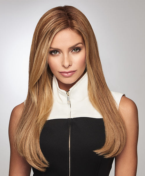 "Raquel Welch Gilded 18"" human hair topper SS14/25 Shaded Honey Ginger"