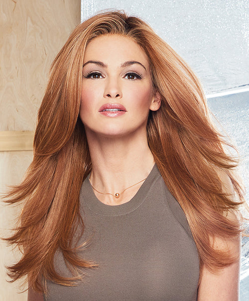 Raquel Welch Scene Stealer synthetic wig RL29/33SS Shaded Iced Pumpkin Spice