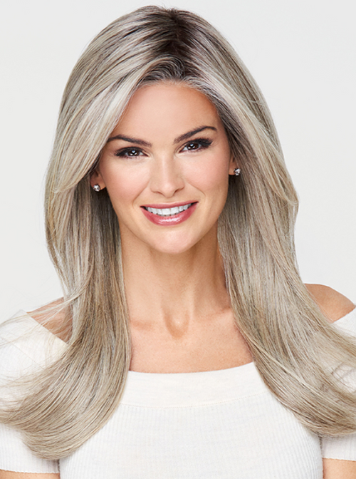 Raquel Welch Mesmerized synthetic wig RL17-23SS Shaded Iced Latte Macchiato