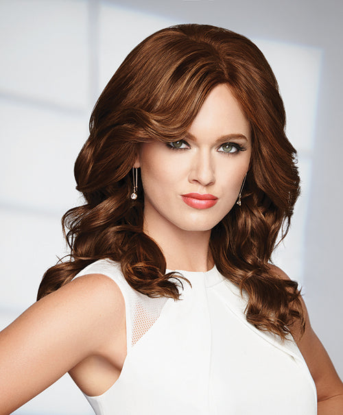 Raquel Welch Knockout human hair wig R6/30H Chocolate Copper