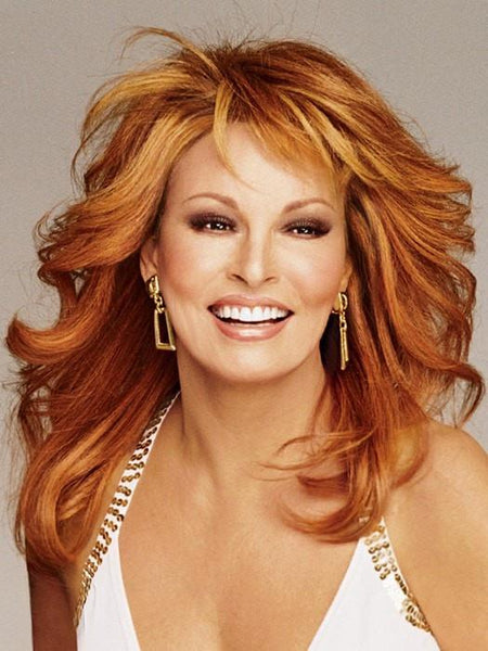 Raquel Welch Knockout human hair wig R28S Glazed Fire