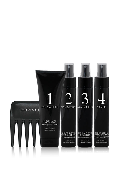 JON RENAU/EASIHAIR - Travel Size Synthetic Fibre Care System (5 piece)