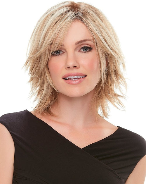 Jon Renau Top Form 8 inch human hair topper 12FS8 Shaded Praline